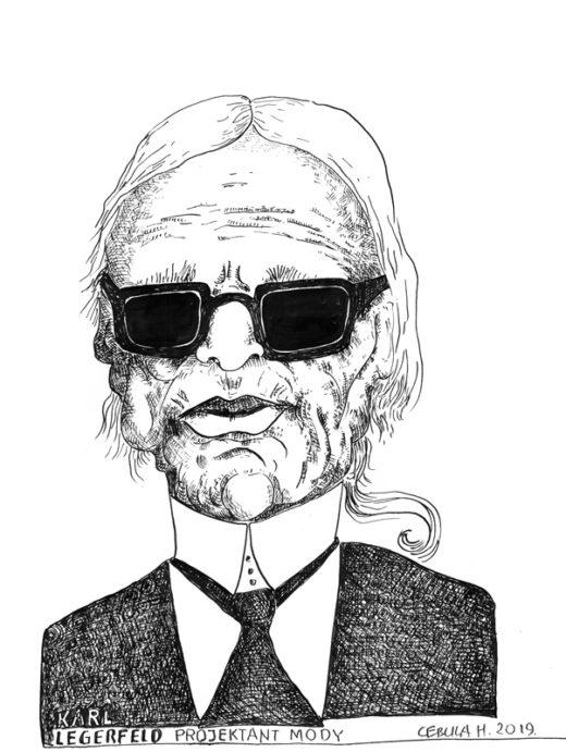 Rysunek Heńka: Karl Lagerfield
