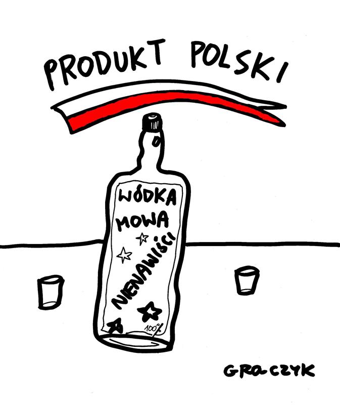 Rysunek Michała Graczyk: Polska mowa nienawiści